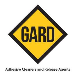 hot melt and silicone roller replacements. Gard adhesive cleaners & release agents logo.