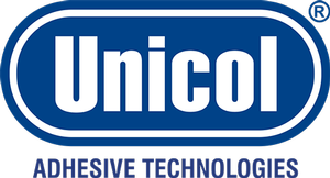 hot melt and silicone roller replacements in Lincolnshire and UK. Unicol Adhesive Technologies logo.